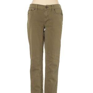 J. Crew Toothpick Ankle Jeans Khaki Green